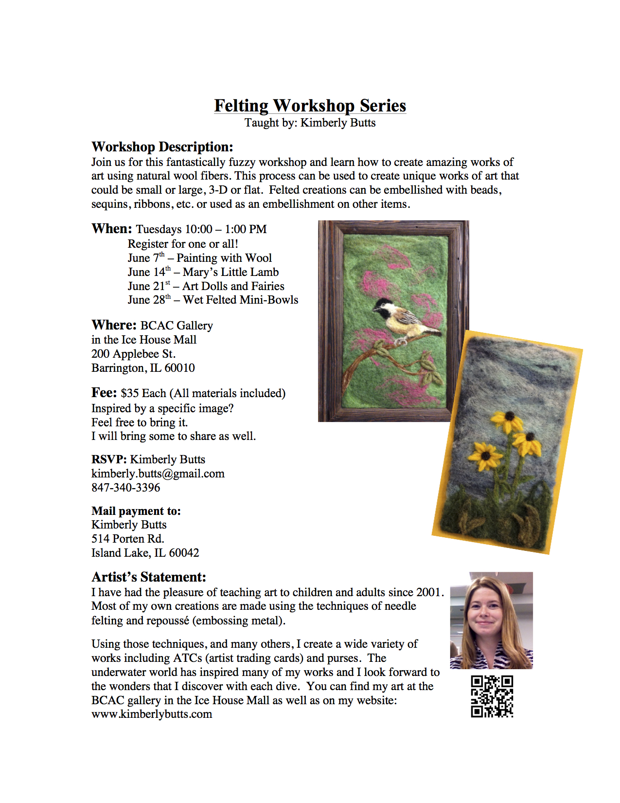 Felting Workshop Series