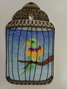 Parrot in a Guilded Cage Journal Page
