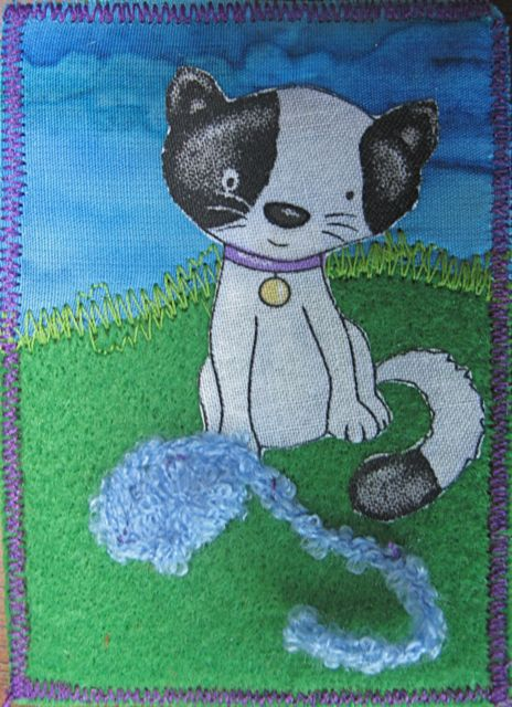Kitty Cloth Collage