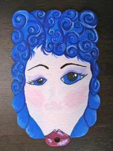 Curly Blue Smooch Journal Page