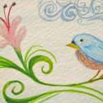 Whimsical Bluebird