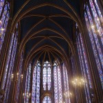 The soaring stained glass windows of Sainte Chapelle