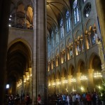 stacked gothic arches of Notre Dame