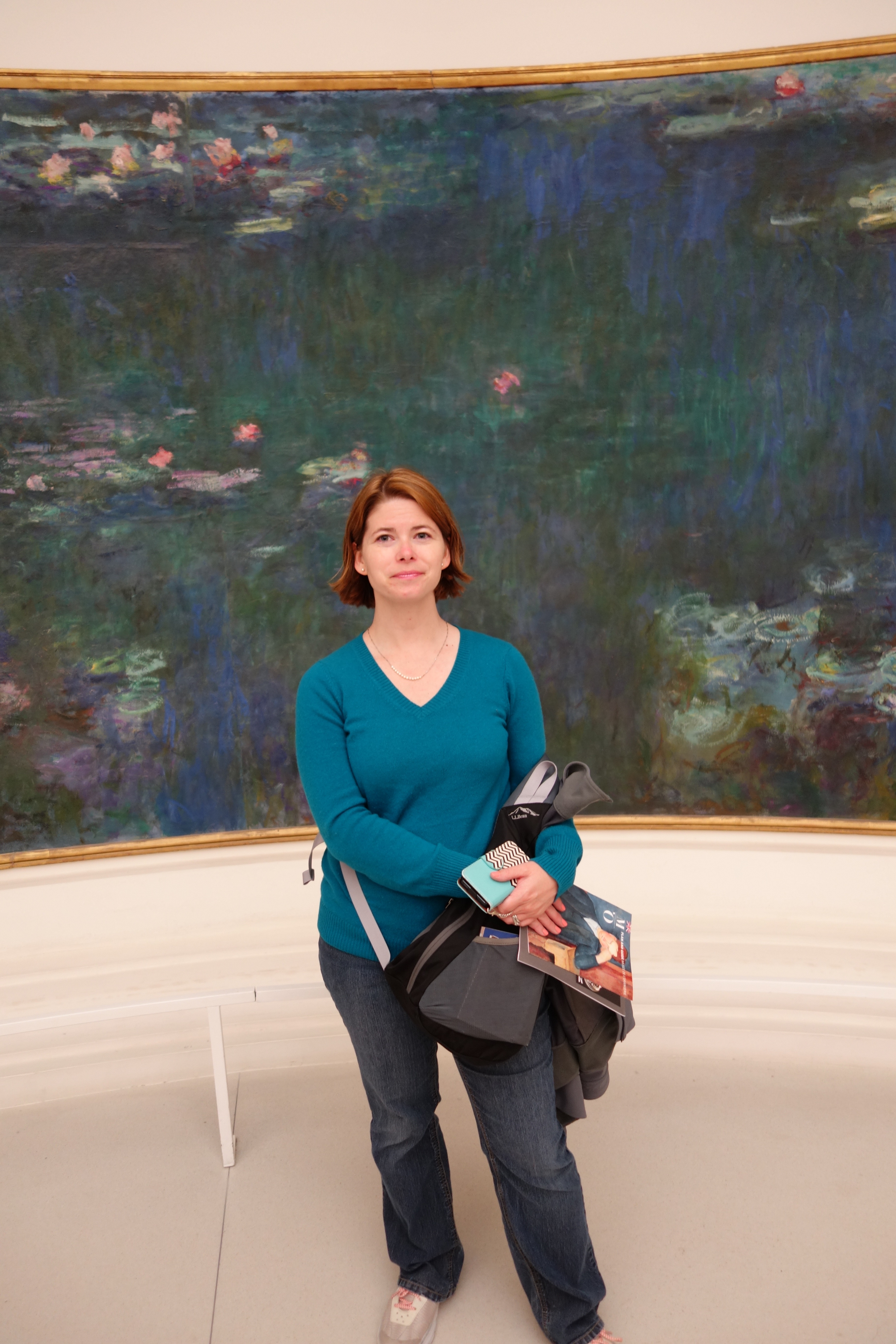 with one of the fabulous waterlily paintings at the Musée de l'Orangerie