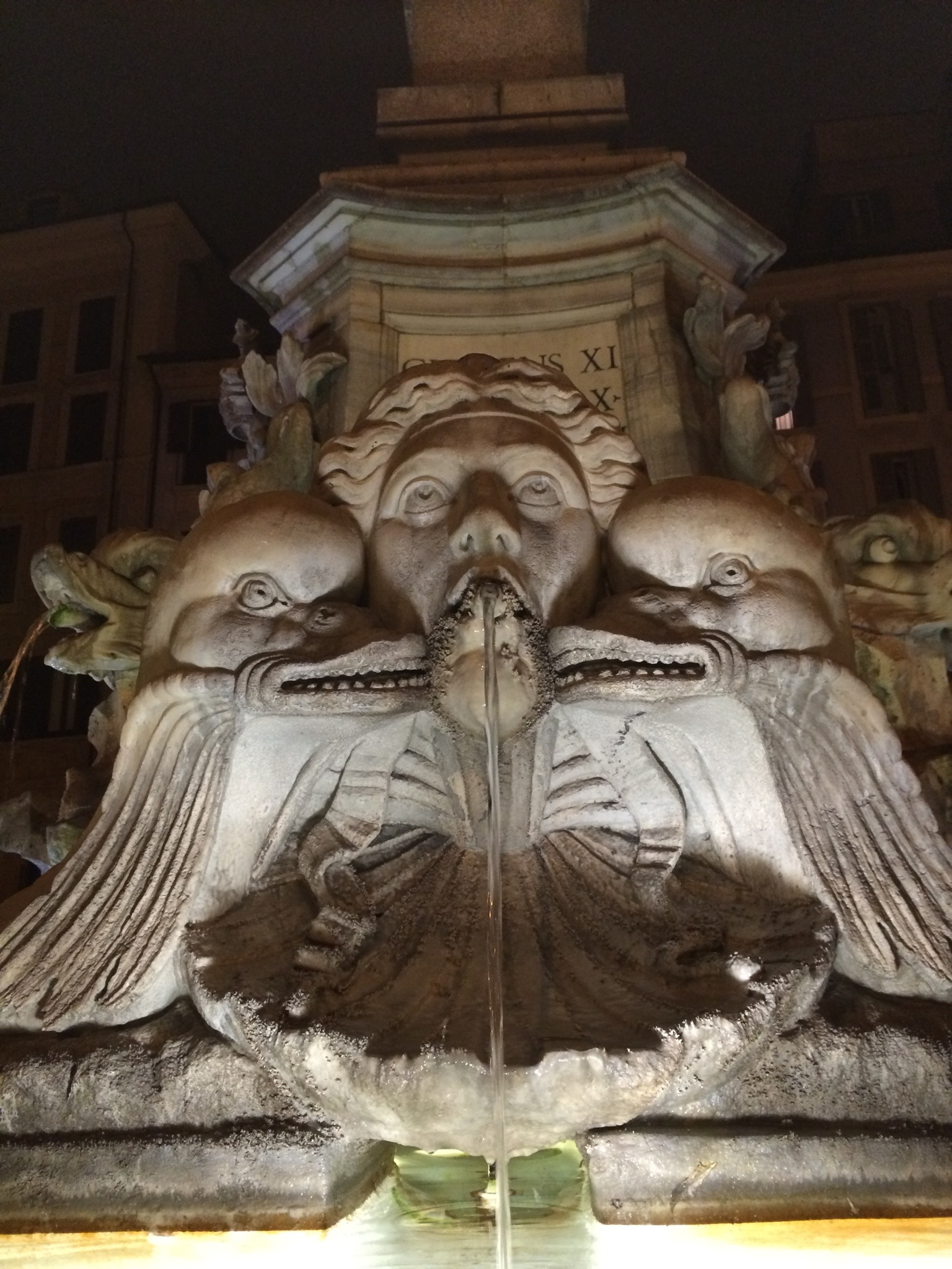 Detail of a fountain near the Pantheon - Rome