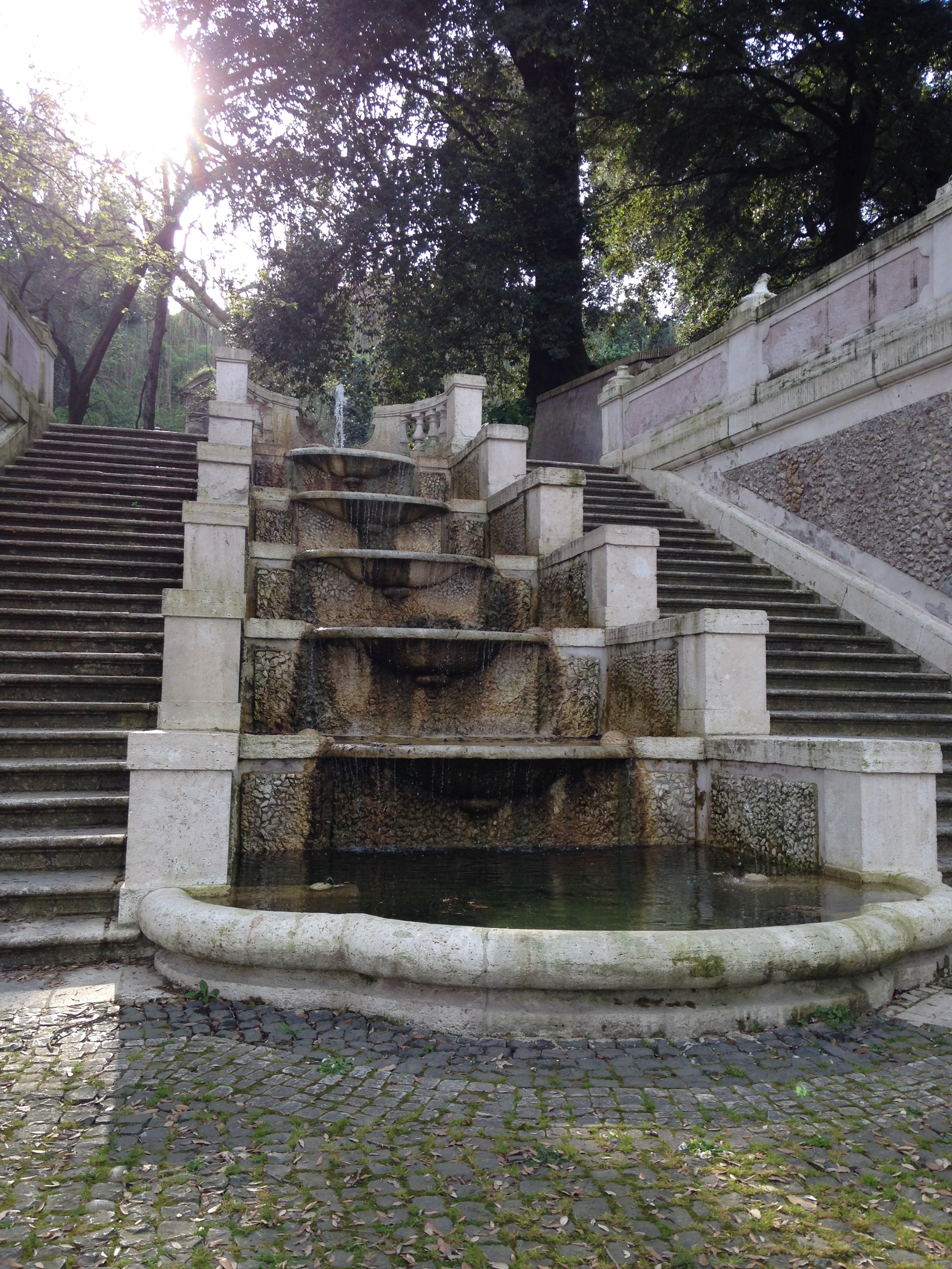 Fountain in Roman Botanical Garden